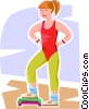 girl doing aerobics Vector Clip Art picture