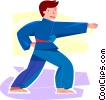 Young martial artist Vector Clipart picture