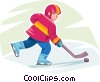 Vector Clipart picture  of a Hockey player
