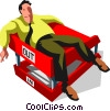 Vector Clipart graphic  of a Businessman laying in his