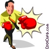 Businessman boxer Vector Clip Art graphic