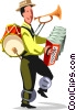 Businessman street performer Vector Clipart graphic