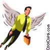 Vector Clip Art image  of an angel businessman