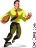 Businessman football player Vector Clipart picture