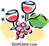 Vector Clip Art picture  of a Wine