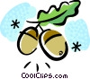 Vector Clipart picture  of a Nuts