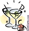 Vector Clip Art picture  of a Cocktails and Mixed Drinks