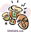 Vector Clipart picture  of a Bongos