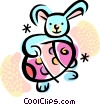 Vector Clipart illustration  of a Easter Bunny