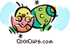 Easter Eggs Vector Clipart illustration
