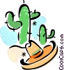 Vector Clip Art graphic  of a Cactus