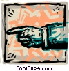 Vector Clip Art image  of a Hands Working