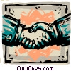 shaking hands Vector Clipart graphic