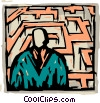 Vector Clipart picture  of a Mazes