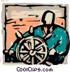 Vector Clipart picture  of a Captain's Wheel