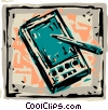 Personal Organizers Digital Assistants, PDA's Vector Clip Art picture