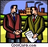 Vector Clip Art picture  of a Business Contracts