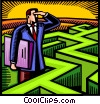 Vector Clipart illustration  of a Mazes