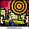 Vector Clipart graphic  of a Targets and Objectives