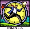 Vector Clip Art image  of a Concepts of time