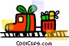 Vector Clip Art picture  of a Toy Trains