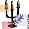 Christmas candles Vector Clipart image