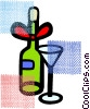 Cocktails and Mixed Drinks Vector Clip Art picture