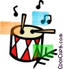 Vector Clip Art image  of a Drums