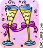 Vector Clipart graphic  of a Champagne glasses