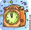 Vector Clipart graphic  of a Mantle Clocks