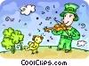 Leprechauns Vector Clip Art picture