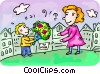 Vector Clipart picture  of a Mother's Day