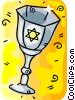 Vector Clip Art image  of a Chalices