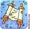 Vector Clipart graphic  of a Scrolls and Parchment