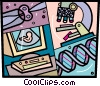Vector Clipart image  of a DNA