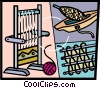 Vector Clip Art graphic  of a Loom