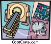 X-Ray Equipment Vector Clipart illustration