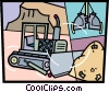 Bulldozers Vector Clip Art picture