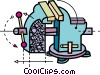 Vector Clip Art graphic  of a Vices and Clamps