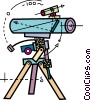Vector Clip Art graphic  of a Telescopes