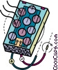 Vector Clip Art graphic  of a Test Equipment