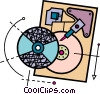 Vector Clipart picture  of a Hard Disk Drives