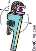 Vector Clipart picture  of a Pipe Wrenches