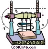 Vector Clip Art image  of a Sewing Machines