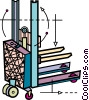 Vector Clipart image  of a Fork Lifts