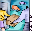 Courier Services Vector Clipart graphic