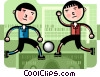 Vector Clip Art picture  of a Soccer Players