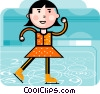 Figure Skating Vector Clip Art graphic