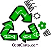 Recycling Symbols Vector Clipart graphic