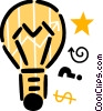Vector Clip Art picture  of a Idea Light bulbs